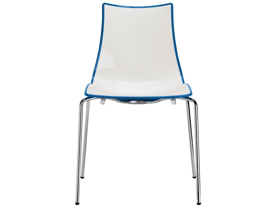designer stuhl zebra bicolore wei blau scab design. Black Bedroom Furniture Sets. Home Design Ideas