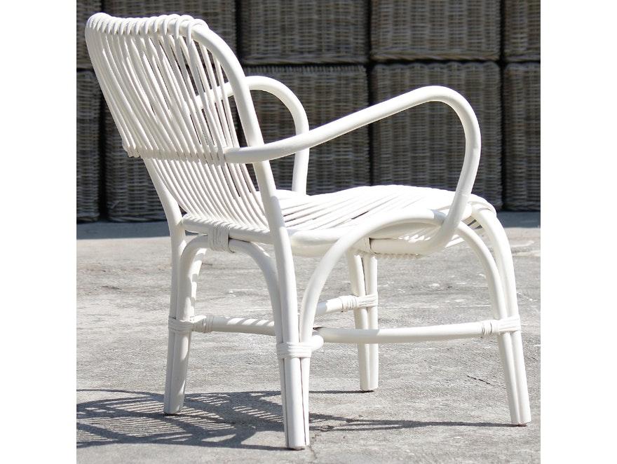 stuhl mit armlehnen rattan wei sit m bel. Black Bedroom Furniture Sets. Home Design Ideas