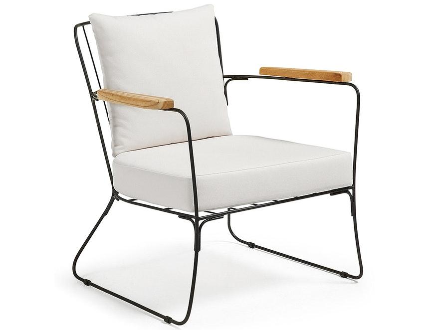 SaFurn Sessel Metallgestell Schwarz Rubpeh Mit Kissen Esszimmerstuhl  N 8227 5593   1