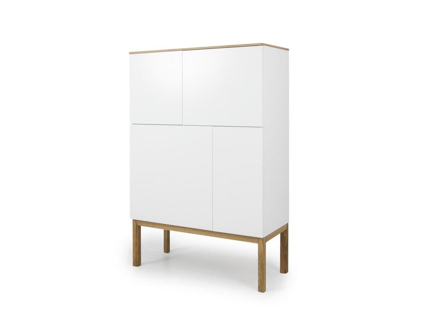 Highboard Patch mit 4 Türen eiche/weiß/eiche » msp furniture ...
