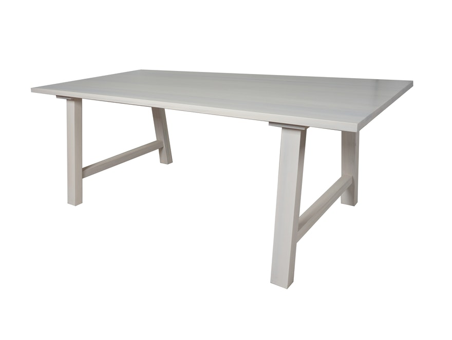 SalesFever Esstisch Holz Pappel Weiß 200 X 100 Cm Gebeizt White Wash  N 10064