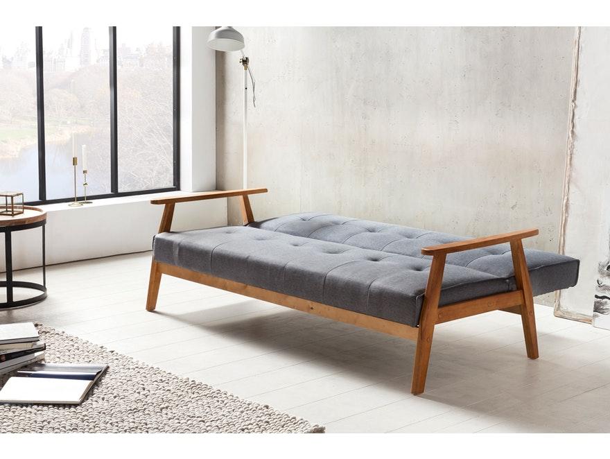 Schlafsofa dunkelgrau ausklappbar skandinavische Möbel DUNDAL