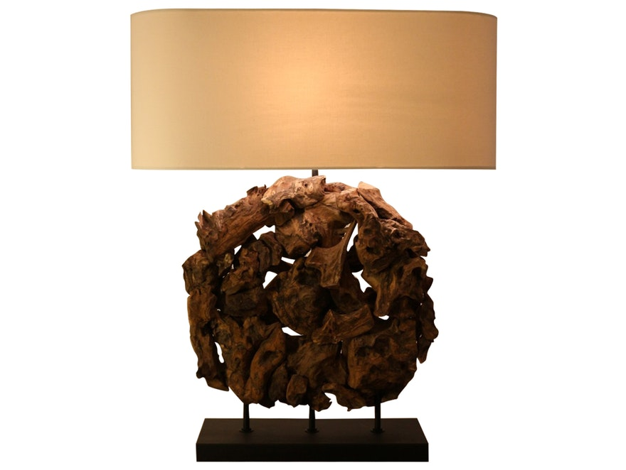 SalesFever® Tischlampe Earth Sculpture Linen Schirm n-6916 - 1