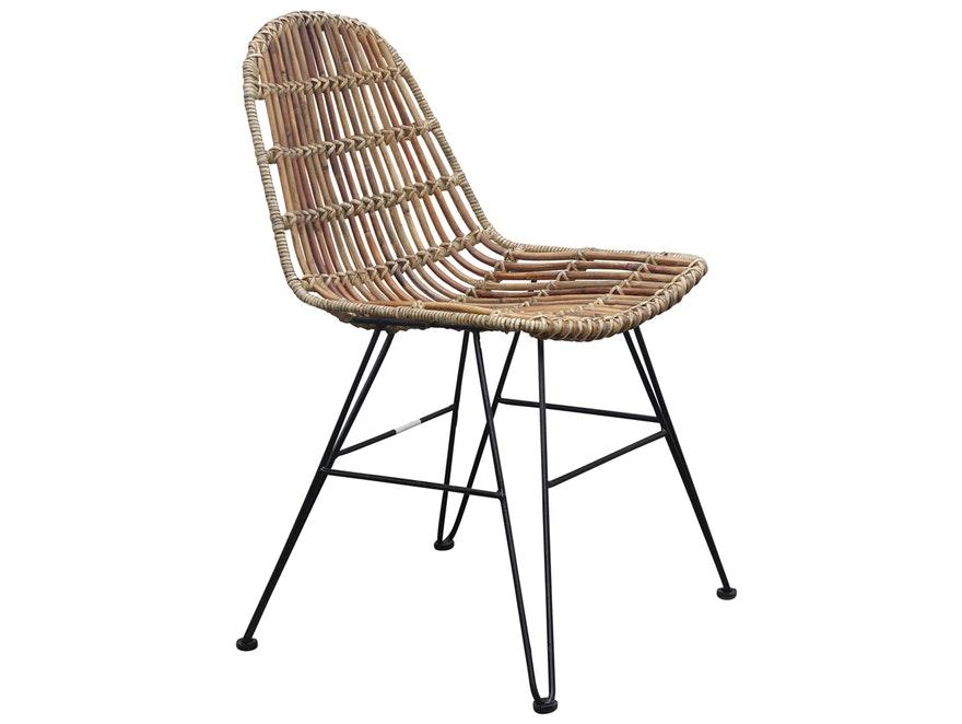 Stuhl Rattan Mit Metallbeinen SIT Möbel – Salesfever