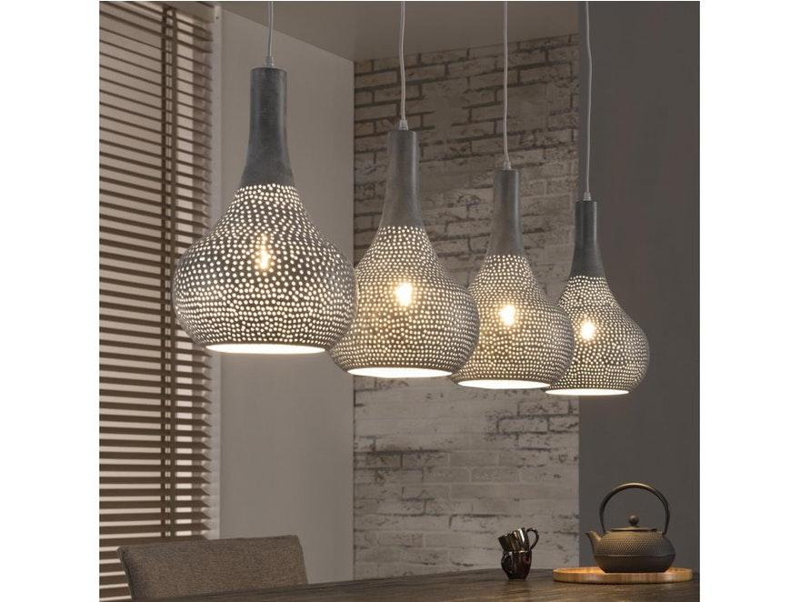 Hangeleuchte Loki 4 Lampenschirme Metall Gelocht Msp Furniture