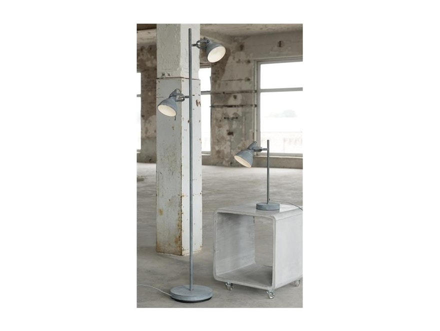 msp furniture Stehlampe Oreo 2 Lampenschirme Beton-Optik  n-9331 - 2