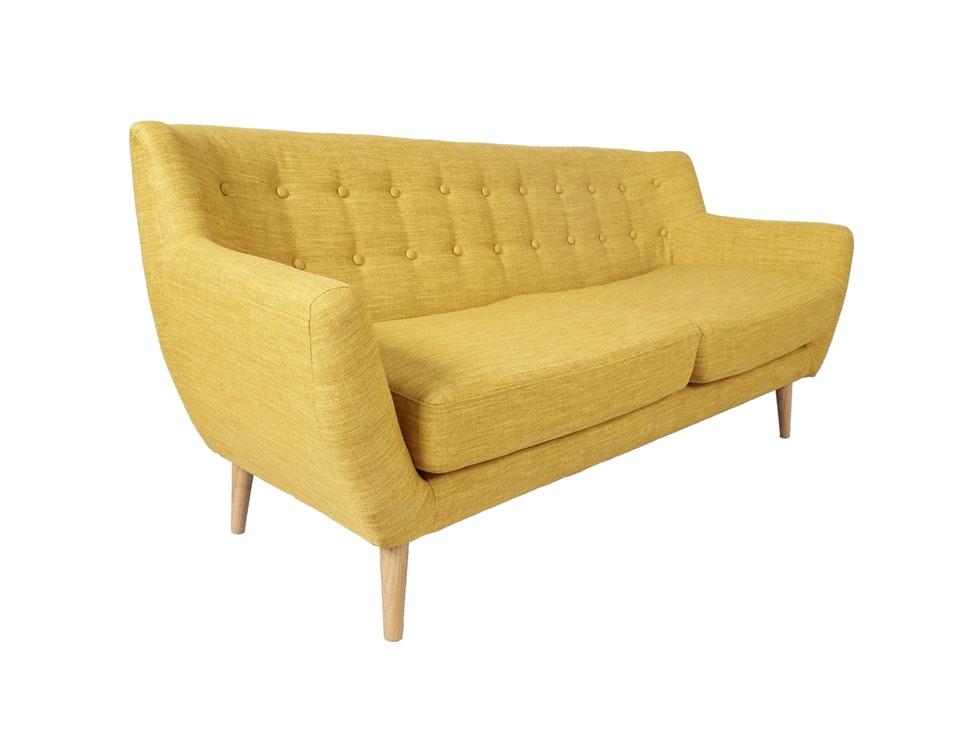 Schlafsofa gelb  Retro-Style Sofa aus Stoff 3-Sitzer Gelb Loma » SalesFever ...