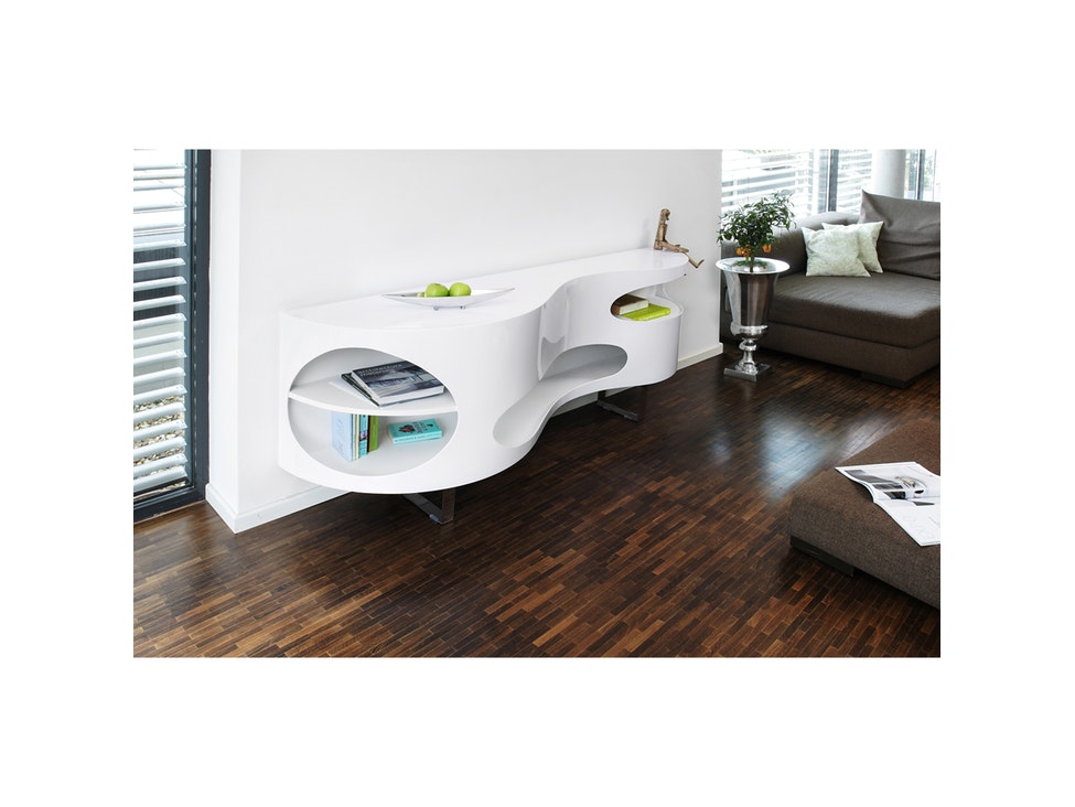 Sideboard design weiß  Sideboard Tchouc groß Hochglanz Design weiß » SalesFever ...
