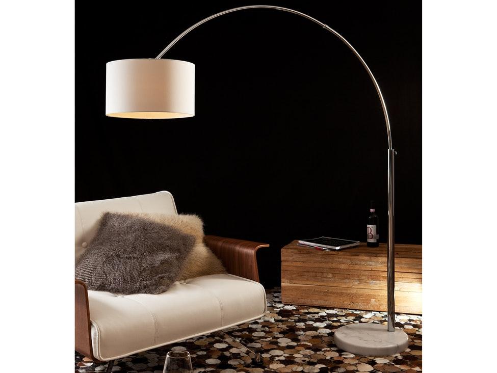 Bogenlampe Weiss Mit Dimmer ~ Bogenlampe alumi groß mit dimmer weiß salesfever u salesfever