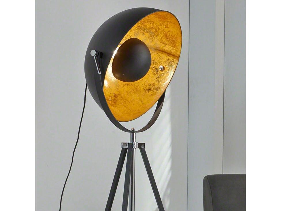 Wandleuchte Schwarz Gold ~ Stehleuchte aspectu mit lampe schwarz gold salesfever