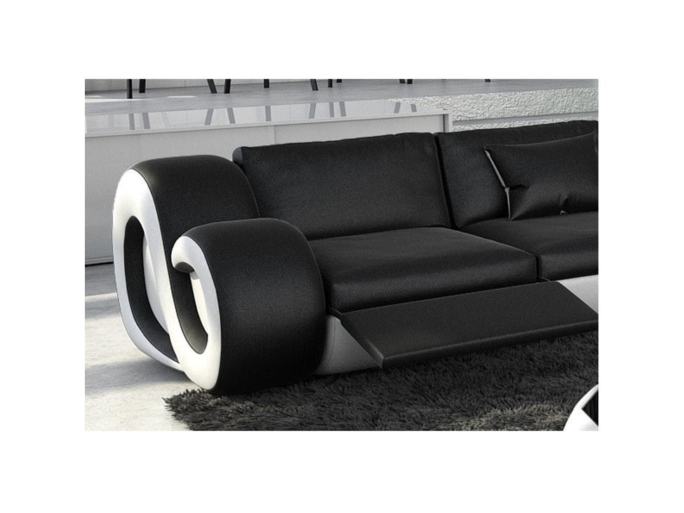 Awesome Amazing Amazing Sofa Sitzer Nesta Mit Led Schwarzwei With Schwarz  Wei Sofa With Sitzer Sofa Wei With Schwarz Wei