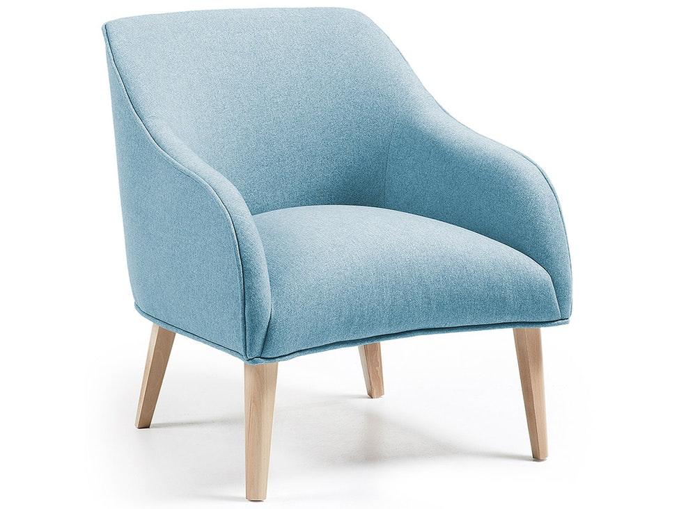 Sessel Hellblau sessel lobby mit holzbeinen varese hellblau