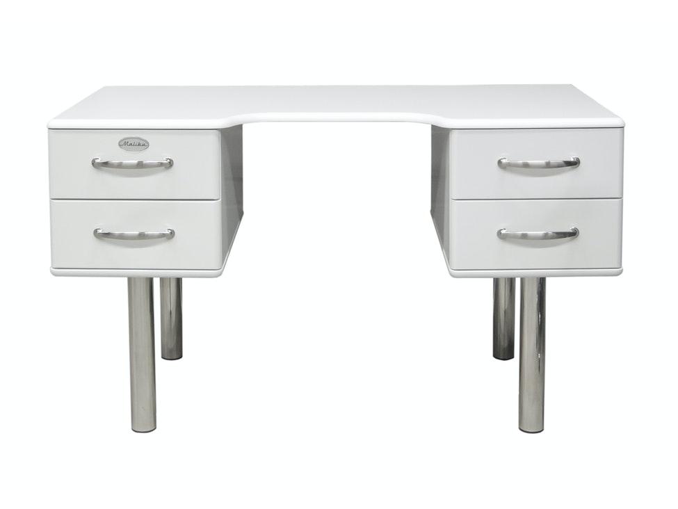 Schreibtisch Malibu mit 4 Schubladen weiß » msp furniture ...