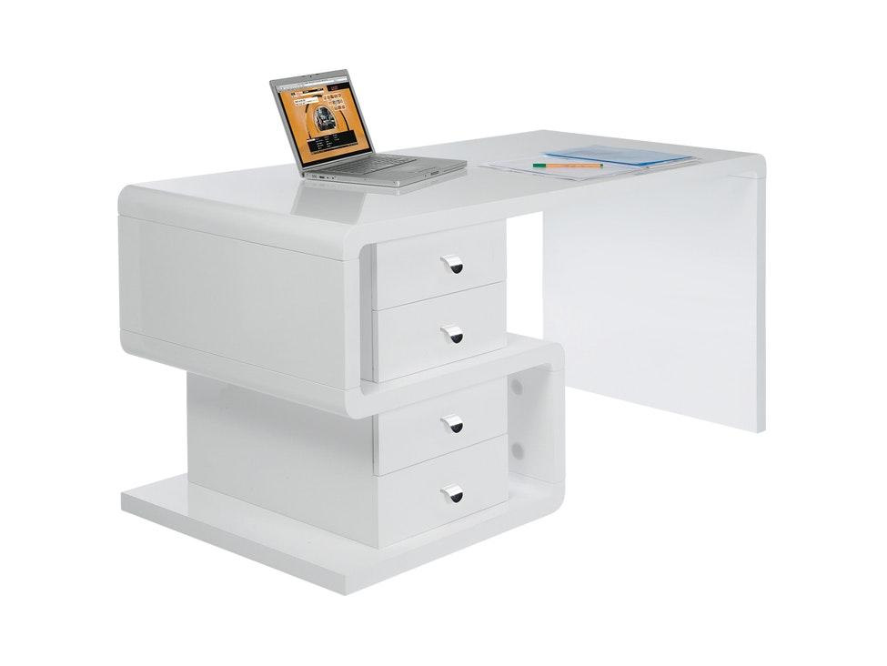Schreibtisch design weiß  Schreibtisch White Club Snake » KARE Design – Salesfever.de