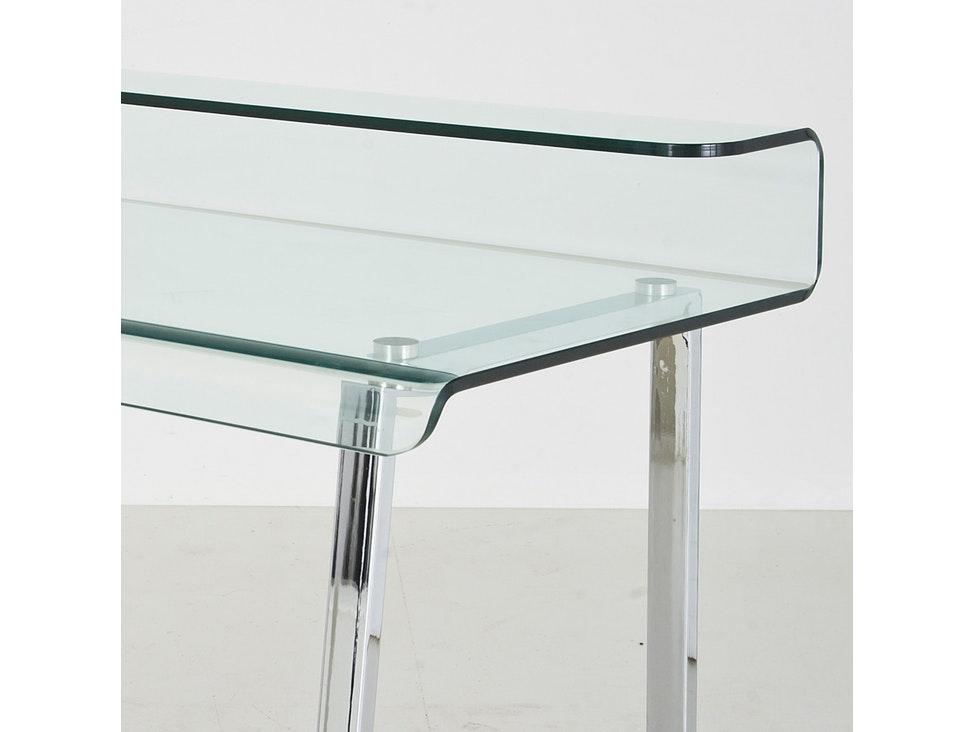 Schreibtisch Visible Clear Stahl Glas