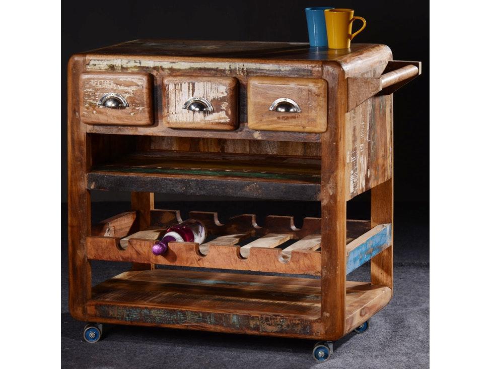 Küchenwagen Glace Shabby Chic 3 Schubladen » SIT Möbel – Salesfever.de