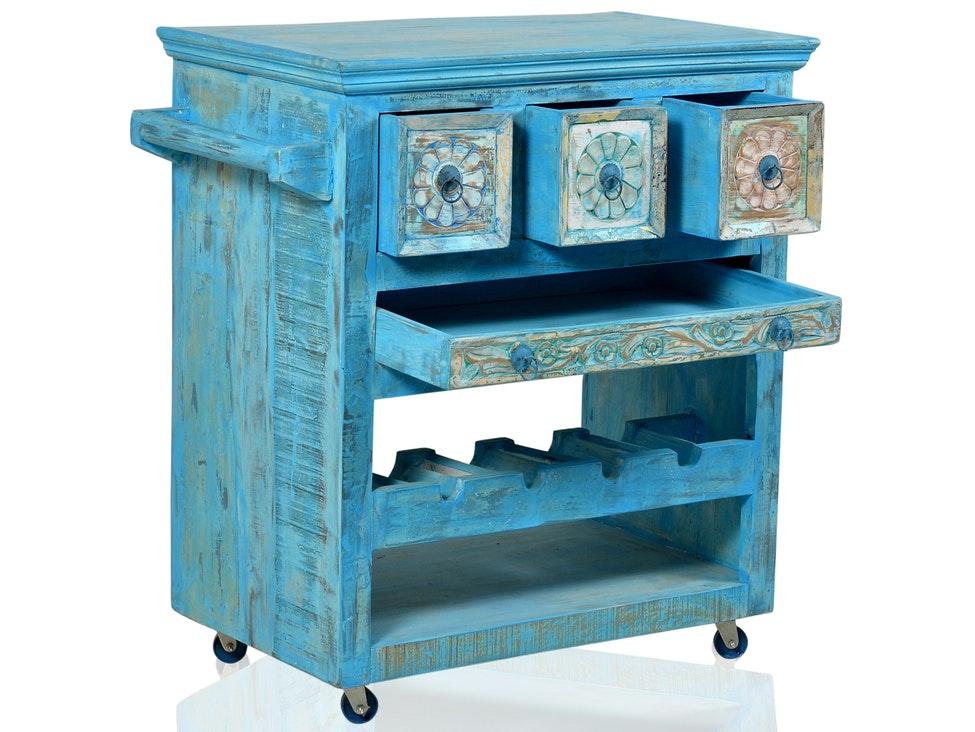 Küchenwagen Blue mit 3 Schubladen » SIT Möbel – Salesfever.de